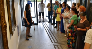 Tornyai művészetével ismerkedtek a mártélyi alkotótábor résztvevői