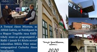 A Tornyai-múzeum 2020-as programjairól a Rádió 7 Közös nevezőjében