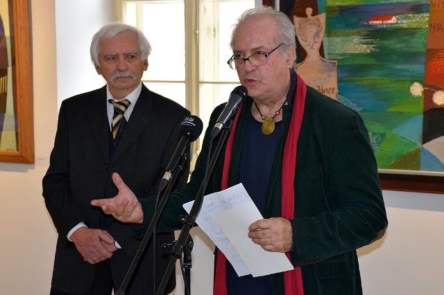 Hézső Ferenc kiállításának megnyitója